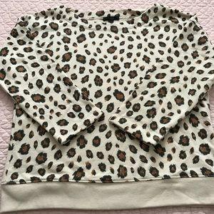 J Crew sweatshirt leopard